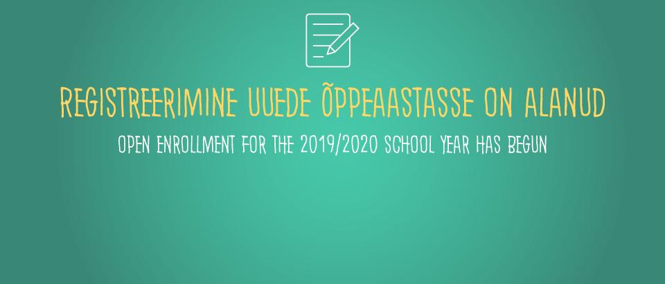 Registreerimine 2019/2020