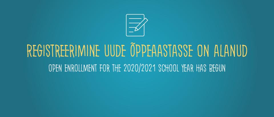 Registreerimine 2020/2021
